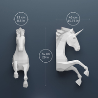 Paper Unicorn With Wing Model Toys 3D DIY material manual creative Party Office props lovely tide decorate Image Christmas Gift