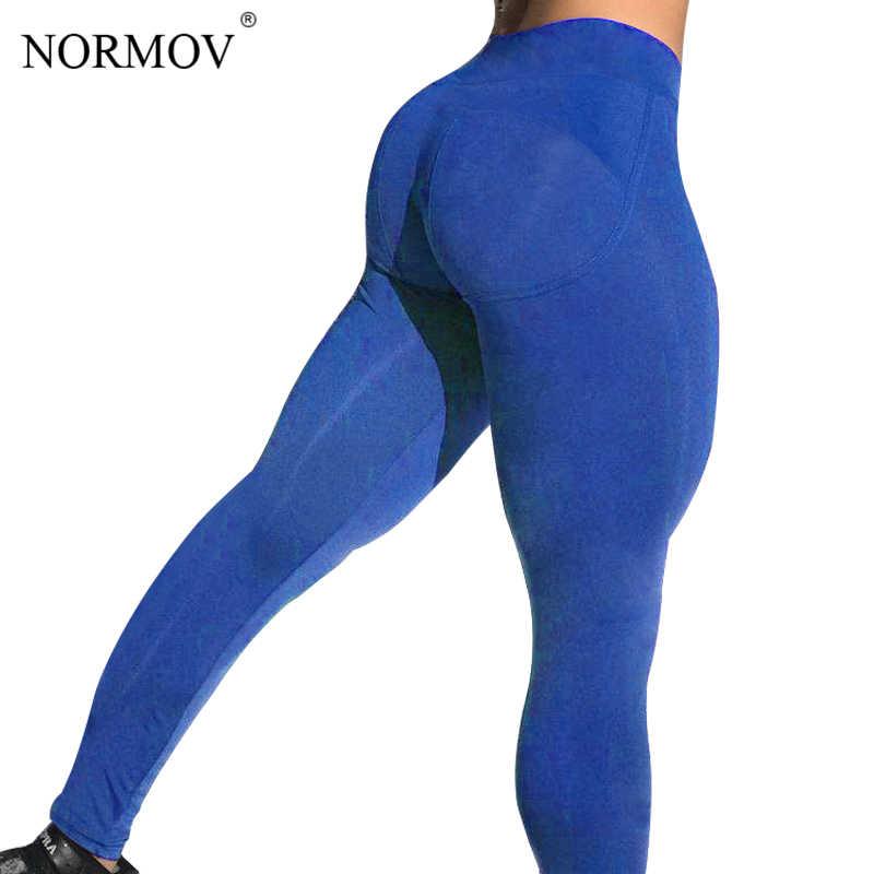 NORMOV solidna wysoka talia legginsy kobiety Gothic Fitness odzież kobiet Patchwork odzież sportowa legginsy Push Up 4 kolor