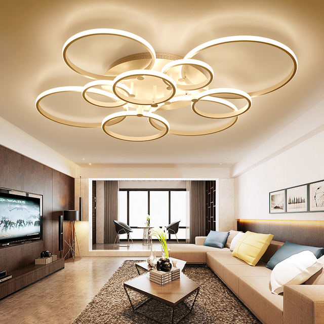 CUICAN New Design Aluminum Modern Led Ceiling Lights For Living Study Room  Bedroom Lampe Plafond Avize Indoor Ceiling Lamp
