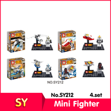 SY SY212 4set/lot Star Wars Series Mini Fighter Model Building  Set Blocks Bricks toy Compatible  Gift