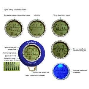 Image 5 - Sunroad SR204 متعددة الوظائف LCD صغيرة الرقمية الصيد بارومتر مقياس الارتفاع ميزان الحرارة مقاوم للماء