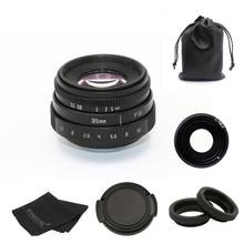 Новое поступление Фуцзянь 35 мм f1.6 для камер с-образным креплением cctv объектив II для sony NEX E-mount камера и адаптер Комплект Черный Бесплатная доставка