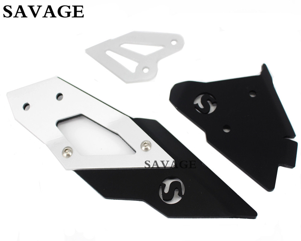 Left & Right Heel Guard Foot Peg Bracket Rear Set For BMW F800GS 2013-2016 14 15 new 2pcs female right left vivid foot mannequin jewerly display model art sketch
