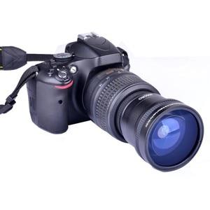 Image 4 - سوبر 0.21x58 مللي متر HD المهنية فيش ماكرو زاوية واسعة عدسة الكاميرا مرشحات لنيكون كانون EOS 700D 650D 600D 550D 50D18 55mm