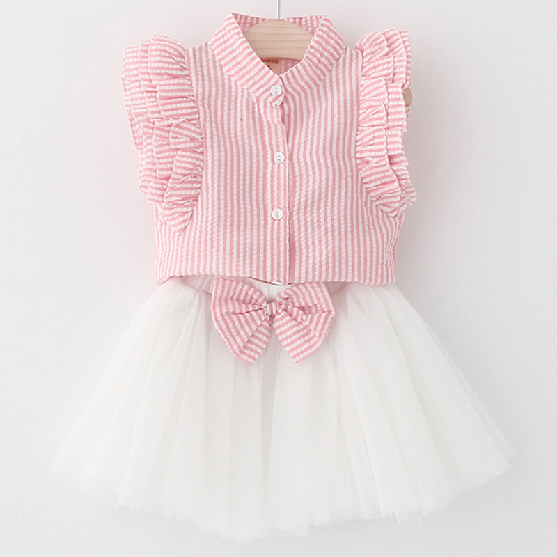 2018 New Arrivals Girls Clothing Set Clothes Summer Fashion Style Cute T-shirt+Pant 2pcs Kids Clothing 3-7 Y O-Neck Suits