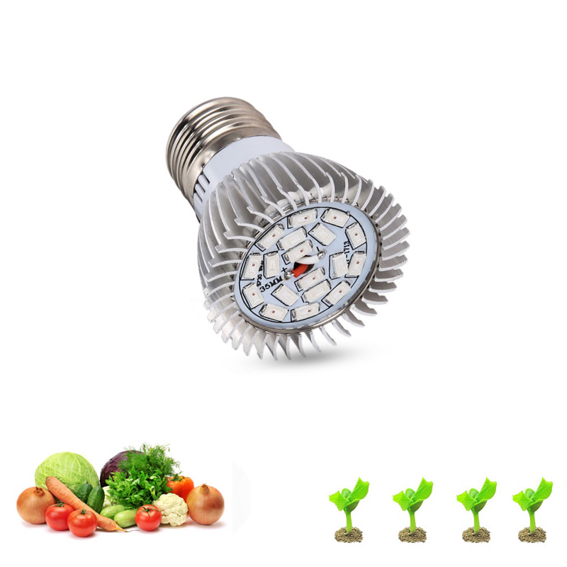 18W E14 E27 GU10 LED Grow Lamp Bulb For Flower Plant SMD 5730 LED Grow Light Hydroponic Plant Full Spectrum Lamp