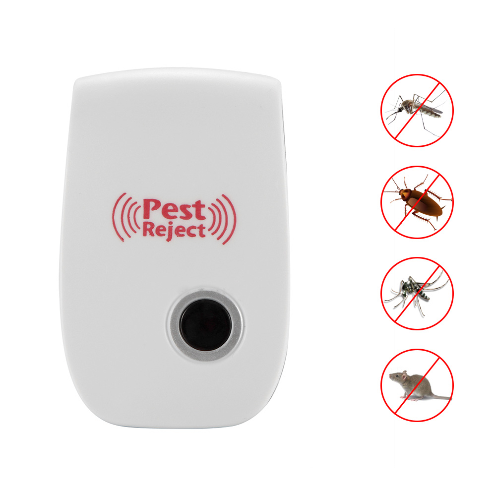 Pest Control Ultrasonic Repeller Mosquito Killer Pest Electronic Anti Rodent Insect Repellent Mole Mouse Cockroach Mice Rejector
