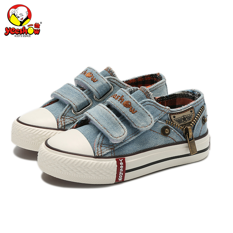 Canvas Children Shoes 2018 New Autumn Sport Breathable Boys Sneakers Brand Kids Shoes for Girls Jeans Denim Student Flats