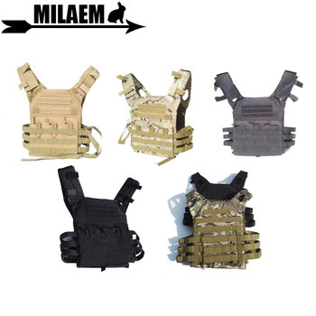 1pc 800D Archery Tactical Vest Simplified Version  Chest Protector  Molle Loading Bear Gear Adjustable Length Hunting Accessory