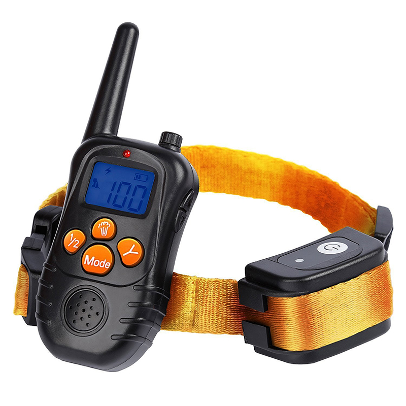 New 300M Remote Electronic Dog Training Collars With LCD Blue Screen Display Rechargeable 100 Levels Pet Electronic Dog Collars 4