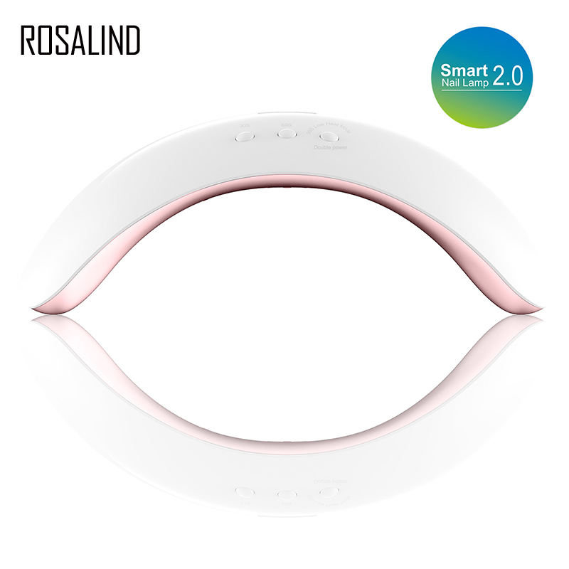 ROSALIND Nail Dryer 48W Metal Bottom Smart Lamp Nail Art Tools UV LED Lamp Electric EU for Manicure Dryer Tool Cured Gel Lacquer