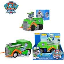 лучшая цена Paw Patrol Rocky Patrol Cars Genuine Patrulla Canina PVC Doll Action Figure Model Toy Child Birthday Gift Boys