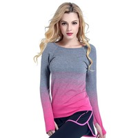 Professional Dry Quick Fitness Casual T Shirt Compression Tights Women Workout Long Sleeve T Shirts Undershirt