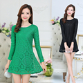 M-5XL 5 Colors Spring Autumn Pregnant Clothes Maternity Clothing Women Dress Casual Knitted Lace Clothes For Pregnant Women