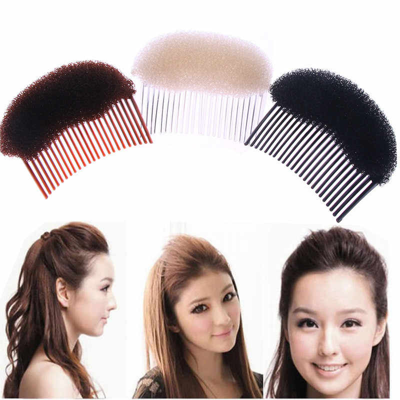 1PC Trendy Black White Brown Magic Hair Styling Clip Maker Tool Pads Foam Sponge Hairpins Combs Princess Shape Accessories