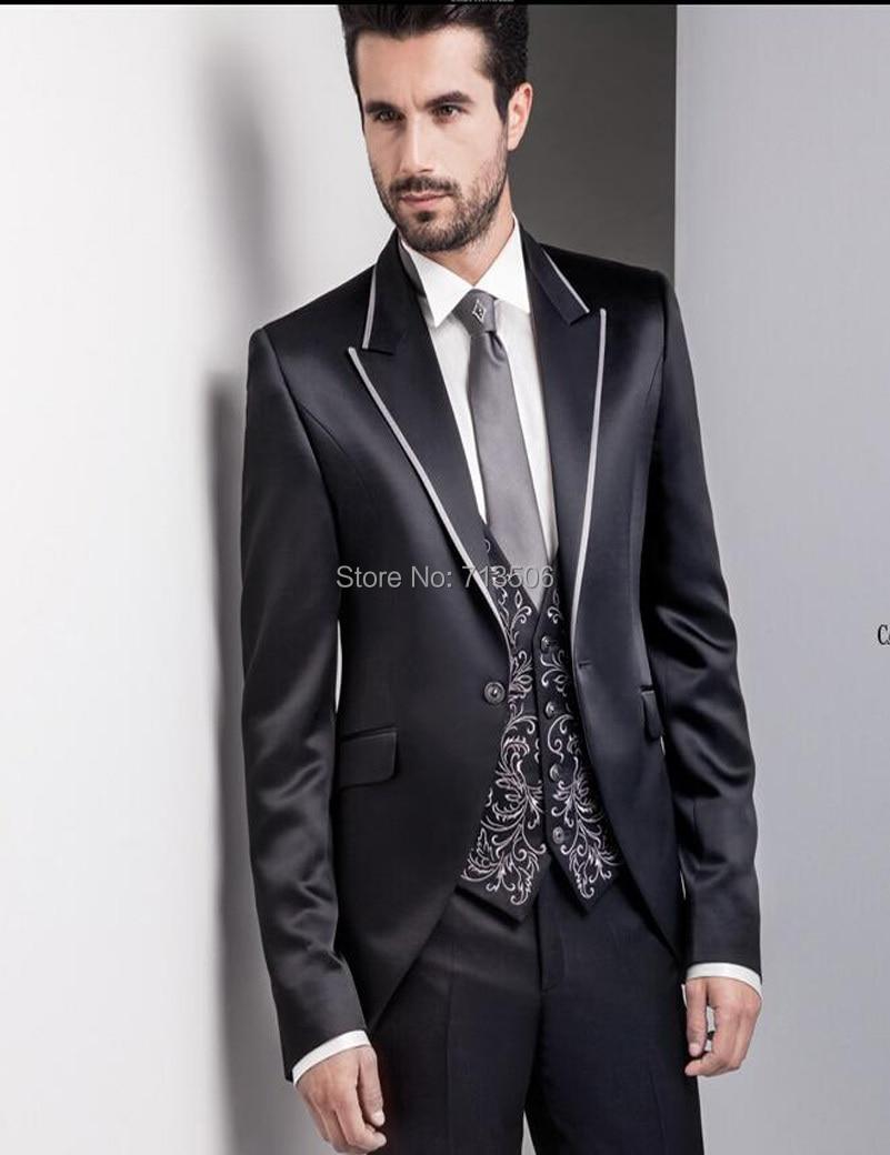 2018 Italian Mens 3 piece Suit Wedding Suits Jacket+Pants+Vest ...