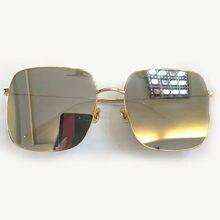 d575445462 Cru De Mode Sans Monture Carrés De Haute Qualité Marque Designer Lunettes  de Soleil pour Femmes Hommes avec la Boîte D'origine O..