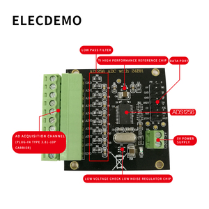 Image 3 - ADS1256 módulo 24 bit ADC MÓDULO DE CA de alta precisión ADC Adquisición de Datos de adquisición de tarjeta Convertidor analógico a Digital