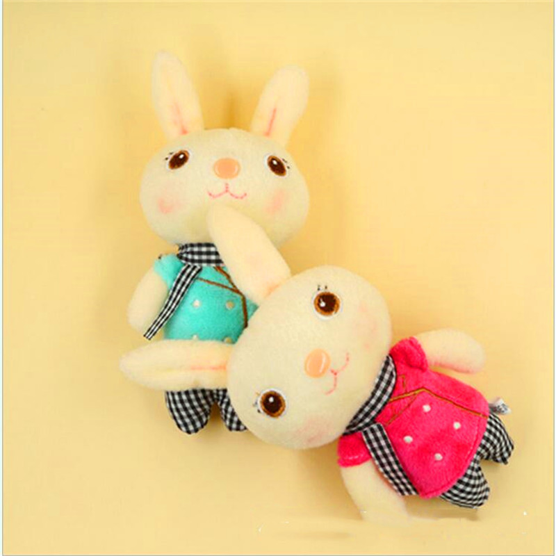 1 PCS 13CM Cartoon Scarf Bear Plush toys kawaii Rabbit stuffed Toy Keychain Pendant Bag Pendant Christmas Gift for girl or boys in Stuffed Plush Animals from Toys Hobbies