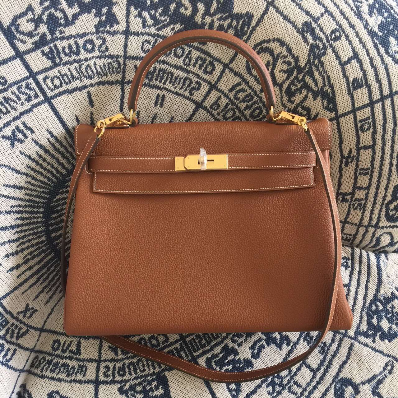 Luxury Handbags Togo Women Authentic-Famous-Brand Messenger-Bags KY Classic H--Bag 100%Hand-Stitching