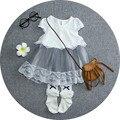 2016 Fada Do Bebê do Algodão do Verão Vestido de renda Da Princesa Vestidos roupas das meninas tutu vestido de festa da menina da criança Do Bebê Recém-nascido para o infante
