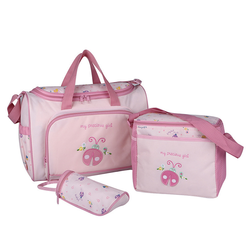 4PCS/Set High Quality Tote Baby Shoulder Diaper Bags Durable Nappy Bag Mummy Mother Baby Bag/ baby bags for mom