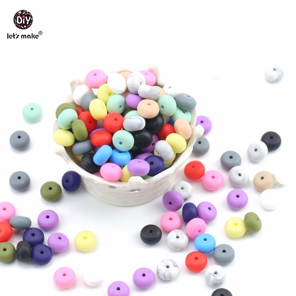 DIY Baby Rattles DIY Project Beads DIY Pacifier Clip Sunset Silicone Beads 14 mm Mini Abacus Silicone Beads