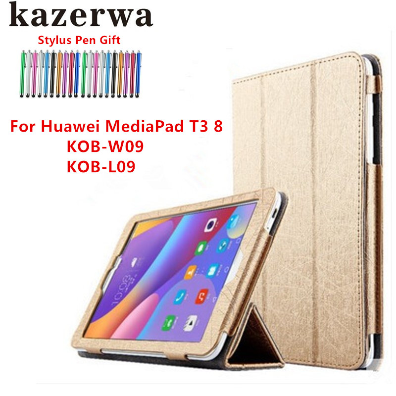 Case for Huawei MediaPad T3 8.0 PU Leather Case Cover for Huawei MediaPad T3 8.0 KOB-L09 /W09 'Tablet Case for Honor 2 8 Funda