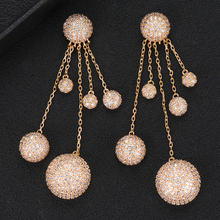 GODKI 2019 Charms Trendy Women Long Tassel Drops Earrings AAA Cubic Zircon Drop Earring For Women Wedding Party Accessories