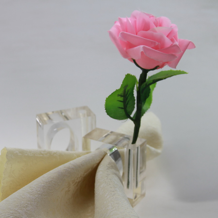 Free shipping clear square acrylic napkin ring with flower vase free shipping clear square acrylic napkin ring with flower vase flower vase napkin holder in napkin rings from home garden on aliexpress alibaba reviewsmspy