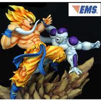 Japan Anime GK 1/6 Dragon Ball Super Saiyan Goku VS Lange-schwanz Frieza Harz Statue Von Einrichtungs Artikel modell Spielzeug Y864
