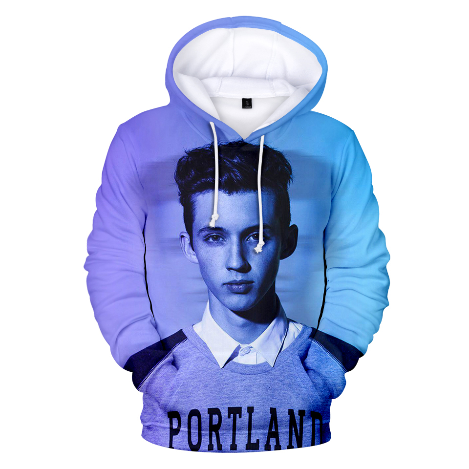 New Design 3D Troye Sivan Hoodies Actor Australian Pop Singer Sweatshirt Oversized Warm Autumn Spring Winter Coat For Young Male image