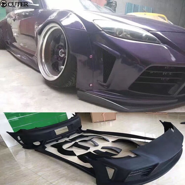rx 8 rx8 wide car body kit frp unpainted front bumper rear bumper