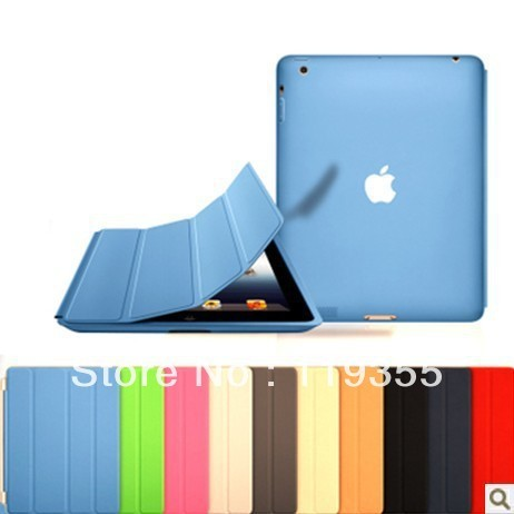 For apple for ipad 2 for ipad 3 for ipad 4 smart cover protective ipad case magnetic holsteins tablet case with retail package