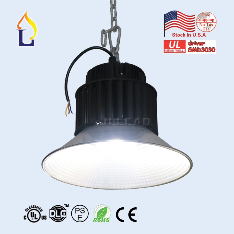 US stock 6pcs/lot led high bay lights UL DLC 100W 150W 200W LED Highbay SMD3030 AC100-277V Industrial lighting 5 years warranty creative retro northern europe concise iron pendant lamp cafe bar restaurant bedroom livingroom decoration lamp free shipping