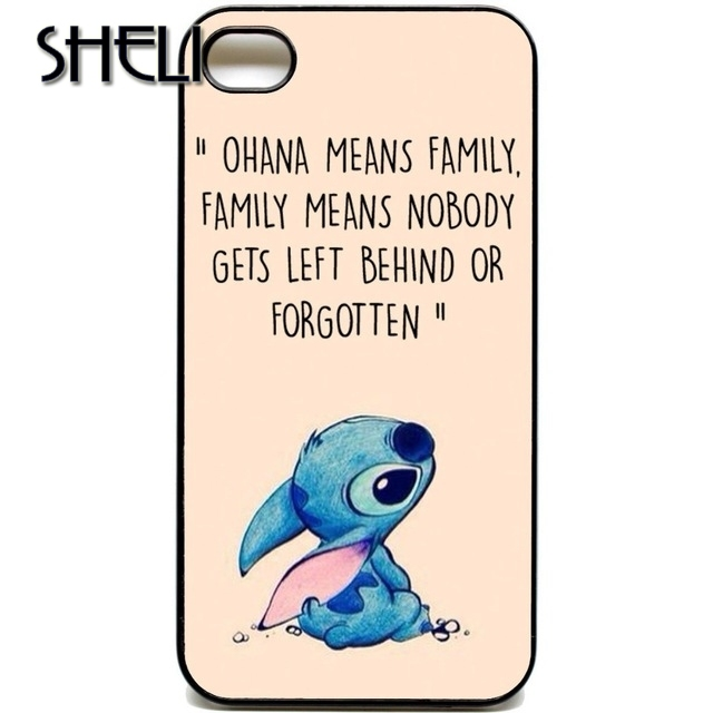 Sheli Ohana Means Family Lilo Stich Case Cover For Iphone 5s 5c Se 6