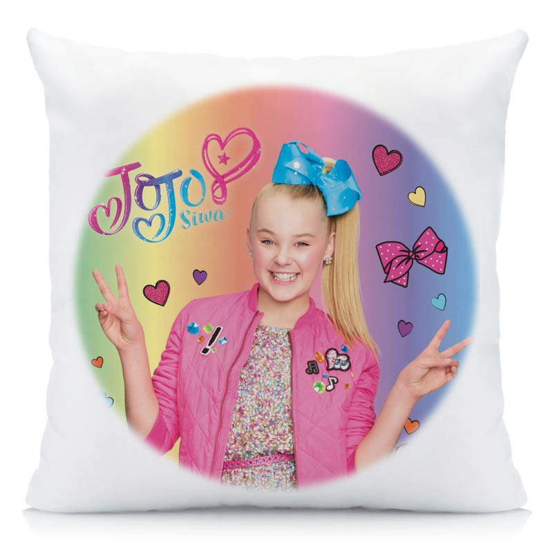 000a65f45a US $2.0 26% OFF|XUNYU JoJo Siwa Cushion Cover 45x45cm Lovely Girl Pillow  Case Polyester Pillowcase Home Decorative Throw Pillow Cover for Couch -in  ...