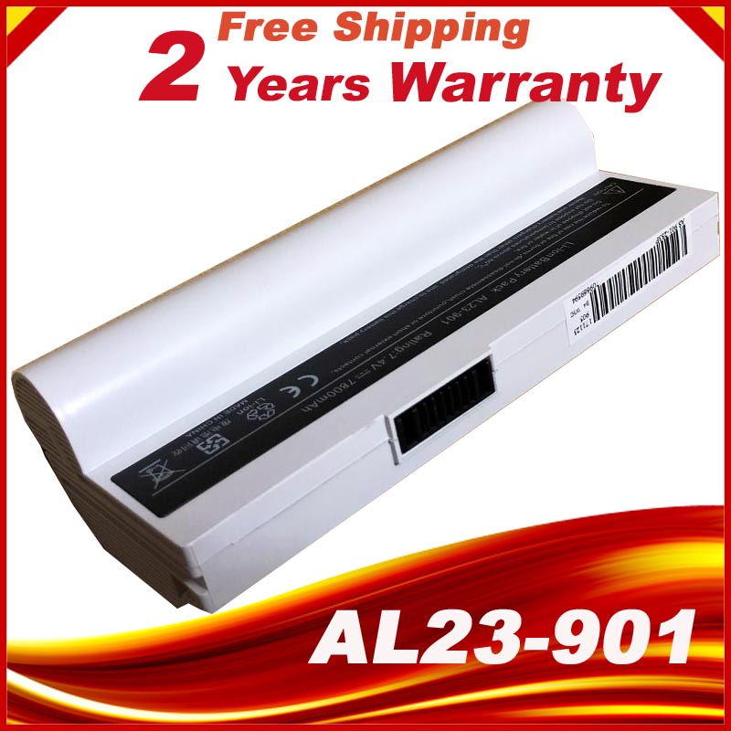 6600mAh White laptop battery for Asus Eee PC EPC 901 904HD 1000H 1000 1000HD 870AAQ159571 AL23-901 AL24-1000 AP23-901 jigu new laptop battery for asus 870aaq159571 al23 901 al24 1000 ap23 901 eee pc 1000 eee pc 1000h eee pc 1000ha eee pc 1000hd