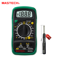 Mastech MAS830L Mini Handheld Display LCD Multimetro DC Corrente Tester Retroilluminazione Data Hold Continuità Diodo hFE Test