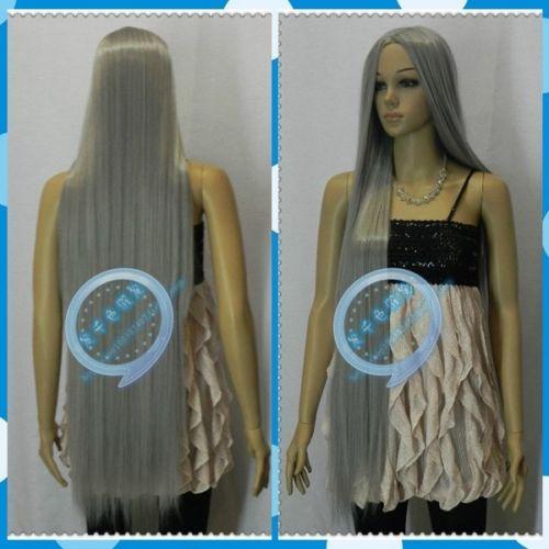 hot sell new - suyushun34481383++New Sexy Woman Cosplay Wig Long Straight Hair Wig Bangs 42% new