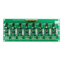 AC 220V 8 ช่อง MCU TTL ระดับ 8 Ch Optocoupler Isolation ทดสอบแยกเครื่องทดสอบโมดูล PLC โปรเซสเซอร์