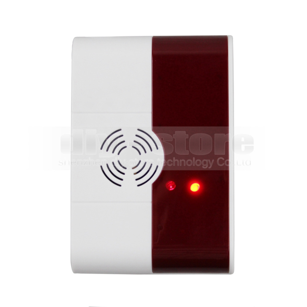 DIYSECUR QG-02 Wireless Gas Sensor for Our Related Home Alarm Home Security System 433Mhz Gas Detector qg vip 33
