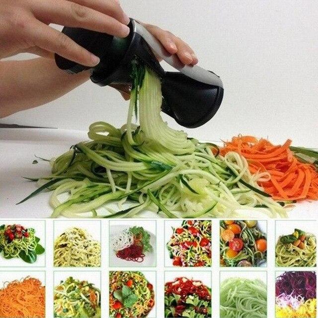 Formidable appareil pour couper en julienne 7 l gumes spirale slicer r pes cuisine julienne - Appareil julienne legumes moulinex ...