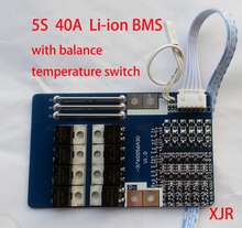 5S polímero de litio lipo 40A BMS/PCM/PCB, Placa de protección de batería para 5 paquetes, celda de batería de iones de litio 18650 con Balance