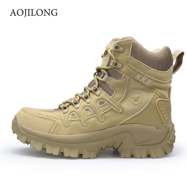 MANLI Hiking Shoes For Mountain Outdoor Sports Tactical Men Military Boots Special Force Tactical Desert Combat Ankle Boats Boot