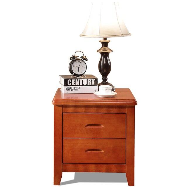 Mesita de noche de madera maciza abogado contratado y contemporáneo ...