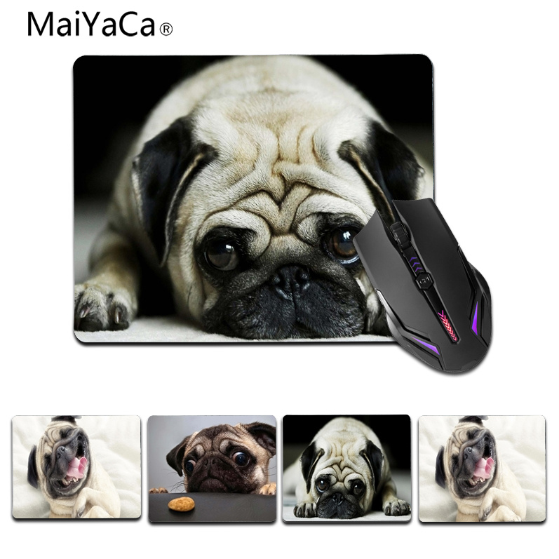 MaiYaCa Top Quality Cute pug Beautiful Anime Mouse Mat Size for 18x22cm 25x29cm Rubber Mousemats