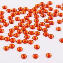 SS3-SS34 Orange Hyacinth Shiny 3D Nail Art Rhinestone Non Hotfix Flatback  Glue On Rhinestones 35998e100fc4