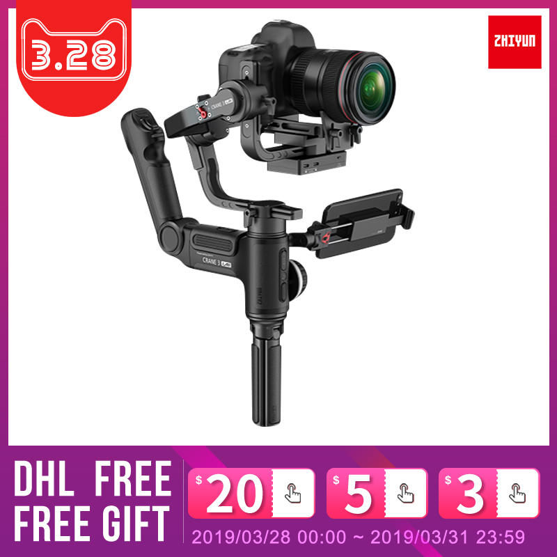 Zhiyun Crane 3 Lab 3 Axis Handheld Gimbal Stabilizer for DSLR BMPCC 4K Sony A7M3 Panasonic