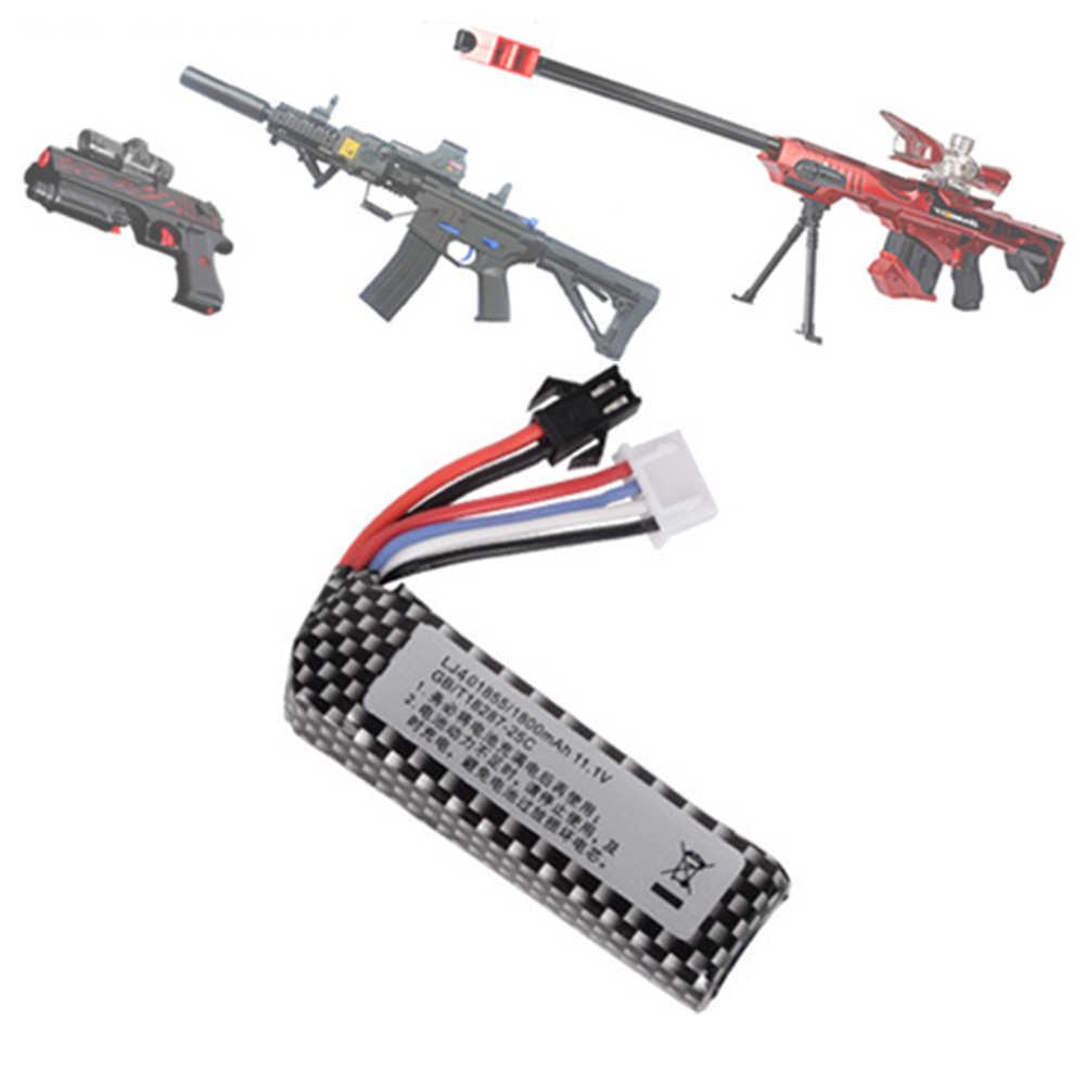 Pistolet à air comprimé airsoft Lipo batterie 11.1V 1800mah lipo batterie électrique pistolet à eau lithium batterie jouet pistolet accessoires